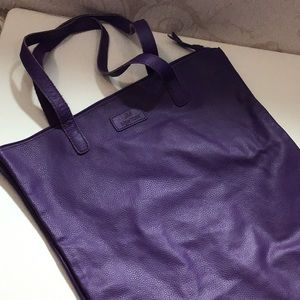 JM New York* purple leather tote, lightweight